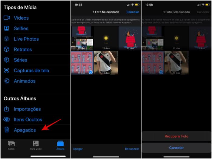 Como recuperar fotos apagadas no iphone