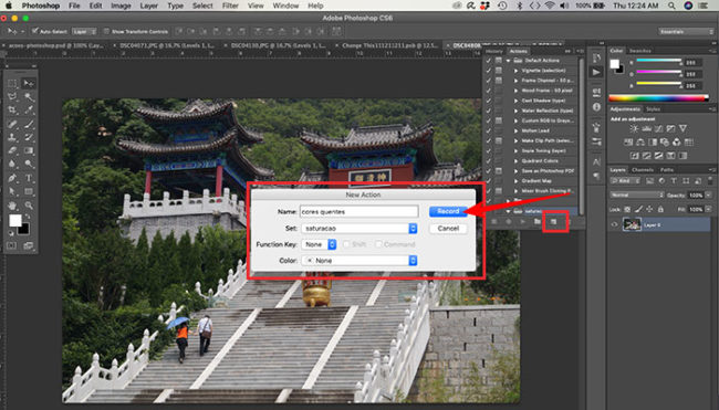 Como salvar ações no Adobe Photoshop