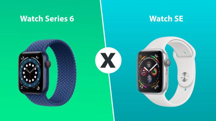 comparativo apple watch series 6 e watch SE
