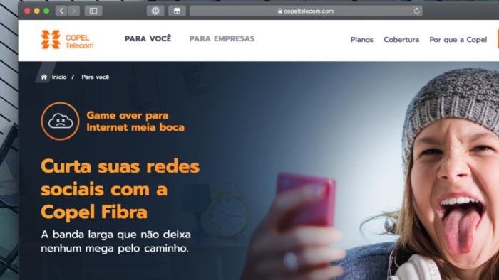 Site da Copel Telecom