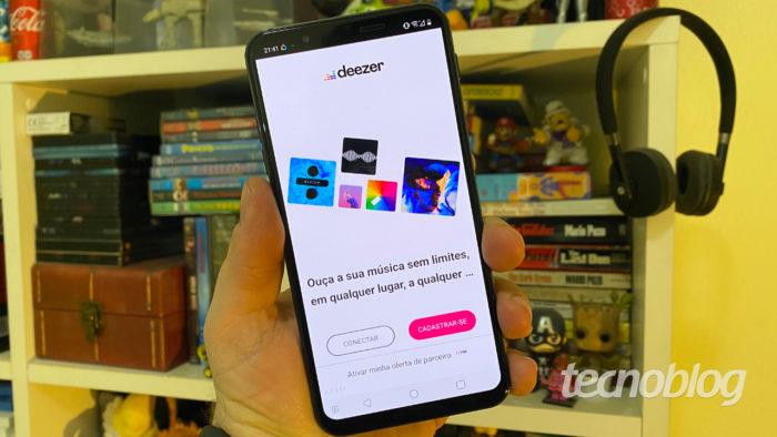Aplicativo do Deezer no Android (Imagem: André Fogaça/Tecnoblog)