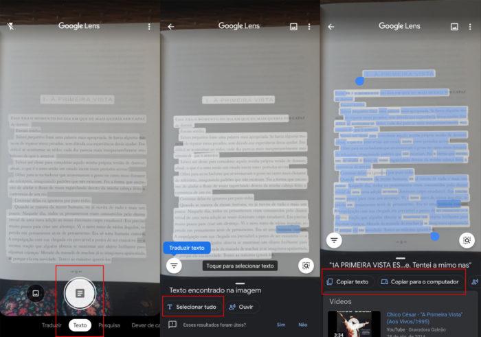 Digitalizar texto impresso com Google Lens