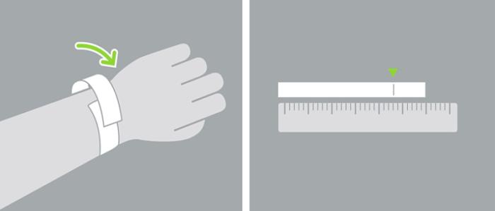 escolher tamanho da pulseira do apple watch com ajuda de uma fita metrica