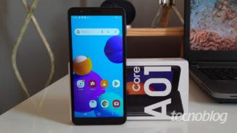 Samsung Galaxy A01 Core: design compacto, Android 10 Go e preço alto