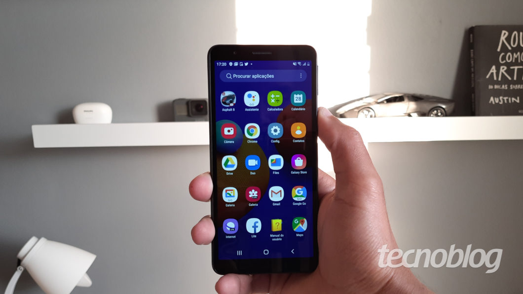 Samsung Galaxy A01 Core (Imagem: Darlan Helder/Tecnoblog)