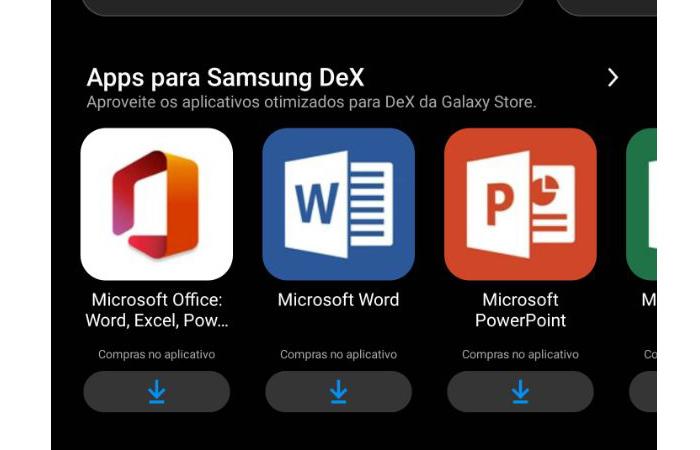 galaxy store / apps samsung dex