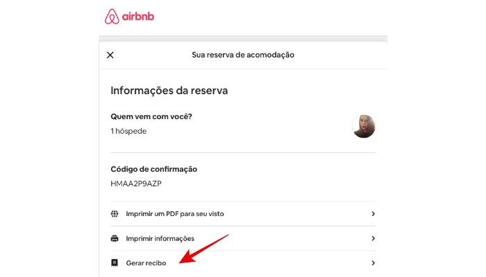 como imprimir recibo no airbnb/reprodução