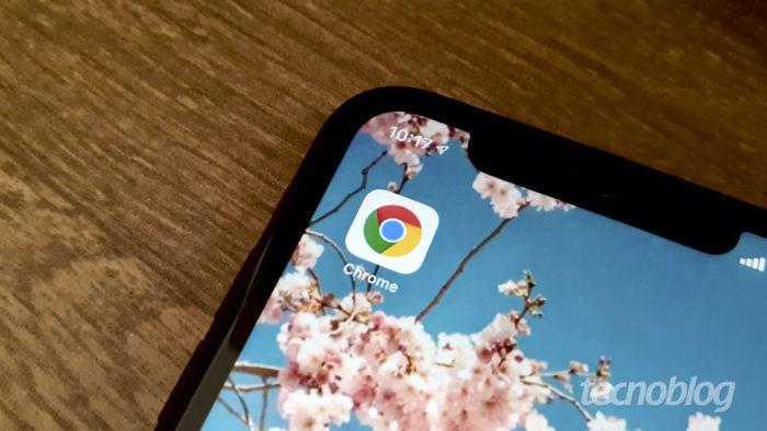 Google Chrome para iPhone (Foto: Bruno Gall De Blasi/Tecnoblog)