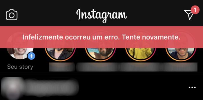 Erro no Instagram