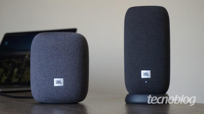 JBL Link Music e Portable (Imagem: André Fogaça/Tecnoblog)