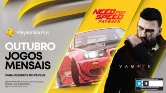 PS Plus de outubro tem Need for Speed e Vampyr nos jogos grátis