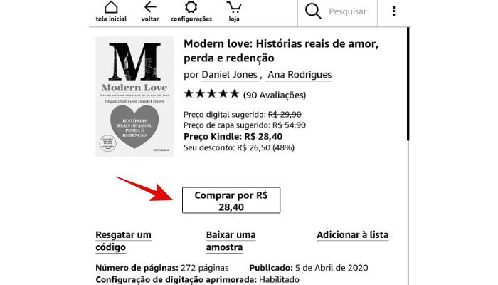 comprar ebook loja amazon kindle