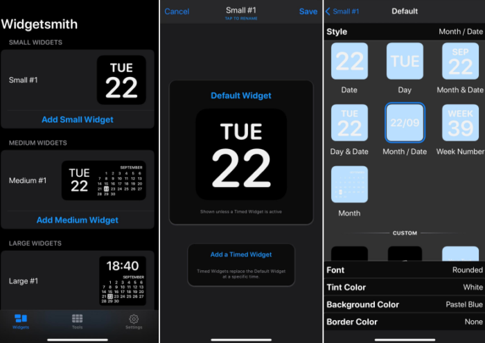 personalizar widgets widgetsmith