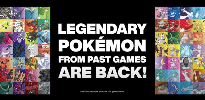 Lendários em Pokémon Sword e Shield