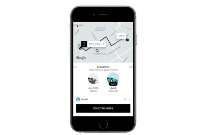 Preço dinâmico Uber