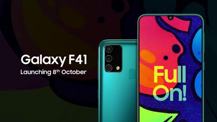 Samsung apresenta detalhes do Galaxy F41 em vídeo (Foto: Reprodução/YouTube/Samsung India)