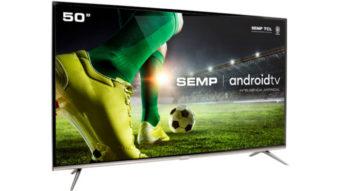 Semp TCL lança TV 4K SK8300 com Android TV por R$ 2.700