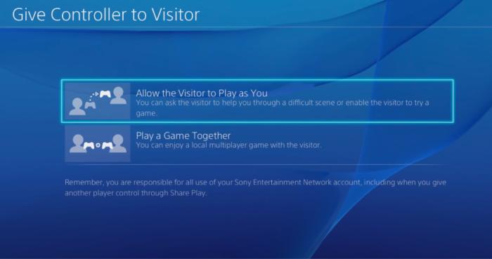 Share Play no PS4