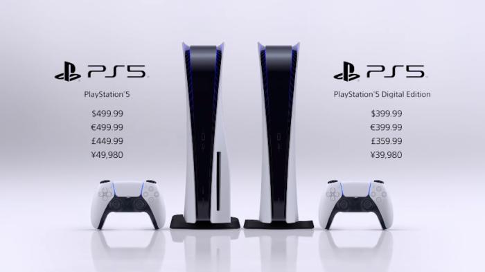 Preços do PlayStation 5