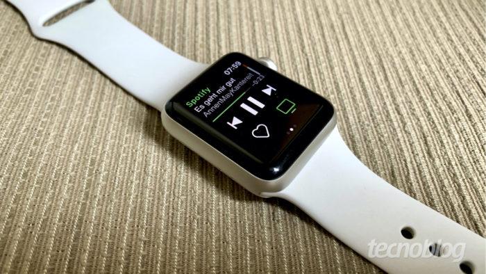 Spotify para Apple Watch (Foto: Bruno Gall De Blasi/Tecnoblog)