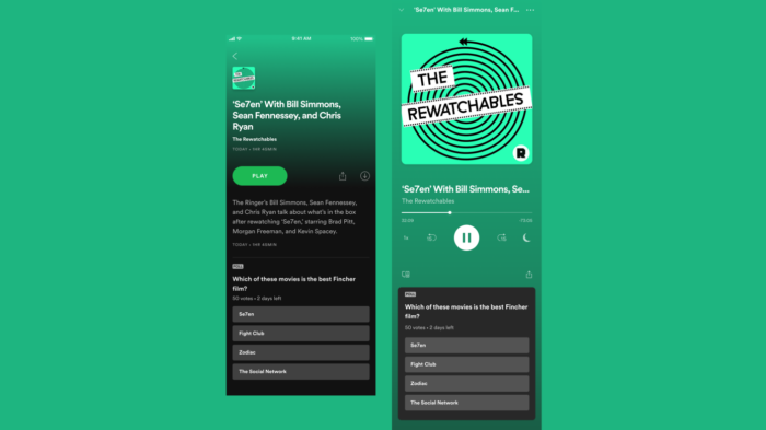 Spotify testa enquetes para tornar podcasts mais interativos (Foto: Divulgação/Spotify)