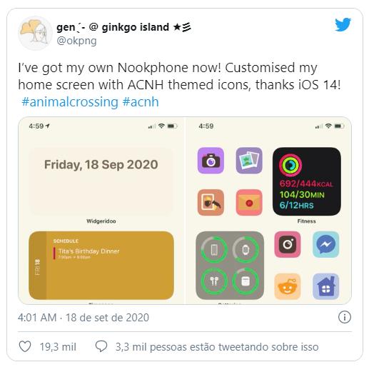 Tela inicial do iOS 14