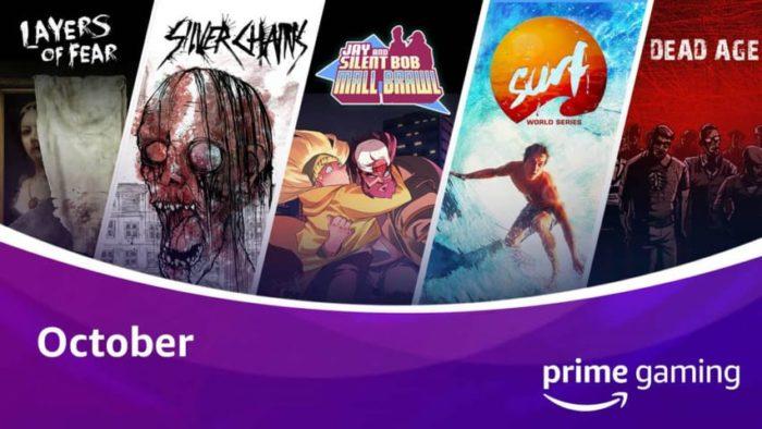 Twitch Prime / Prime Gaming Outubro / Reprodução