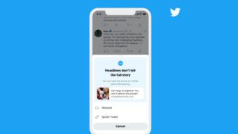 Twitter vai pedir para todos lerem artigos antes de compartilhar