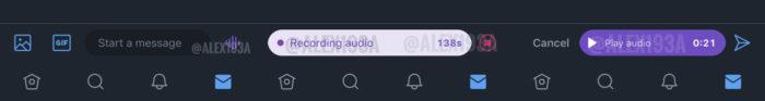 Twitter testa envio de mensagens de áudio via DM (Foto: Reprodução/Alessandro Paluzzi)
