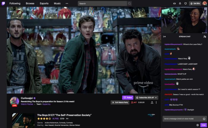 Watch Party na Twitch
