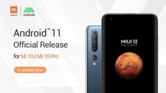 Xiaomi anuncia Android 11 com MIUI 12 para Mi 10 e Mi 10 Pro