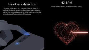 Xiaomi Mi Health mede frequência cardíaca com câmera do celular