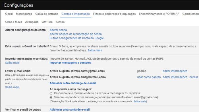 Como usar alias no Gmail (Imagem: Reprodução / Alvaro Teixeira)