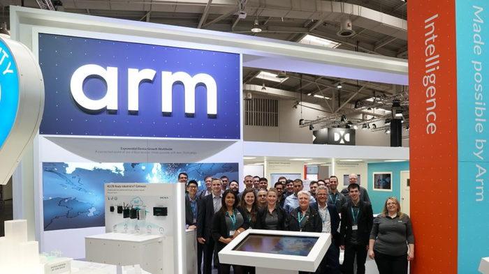 Estande da ARM (foto: Facebook/ARM)