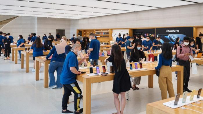 Apple Store na Singapura (Imagem: Divulgação/Apple)
