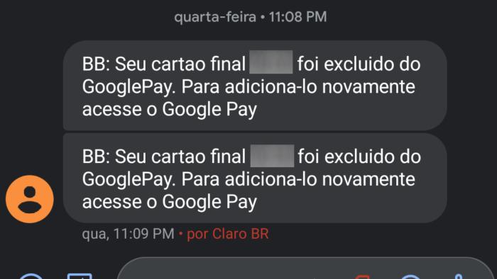 BB remove cartão do Google Pay (Imagem: Reprodução/Everton Favretto)