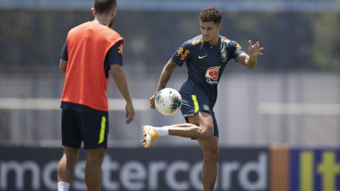 Último treino da Seleção Brasileira em São Paulo antes do confronto contra o Peru - Imagem: Lucas Figueiredo/CBF