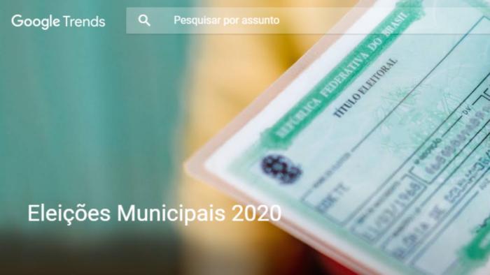 Central de Insights sobre Eleições 2020. (Imagem: Reprodução/Google)