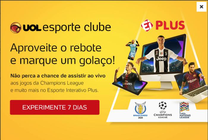 EI Plus - Imagem: Reprodução/Uol Esporte Clube