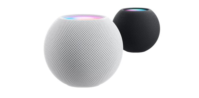 HomePod Mini, in two colors (Image: Press Release / Apple)