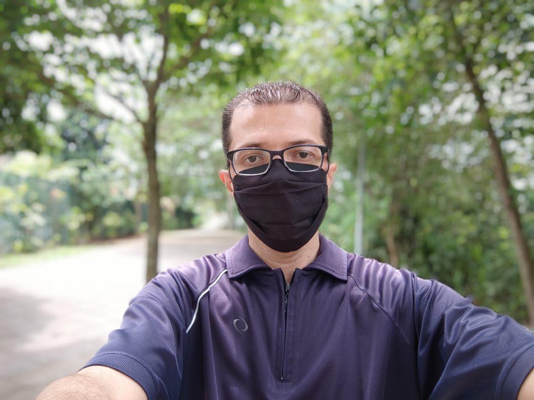 Selfie em modo retrato (imagem: Tecnoblog/Emerson Alecrim)