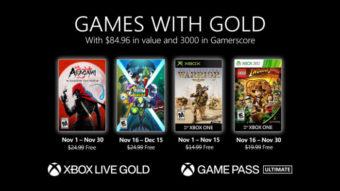 Xbox Live Gold de novembro tem Aragami: Shadow Edition e mais jogos grátis