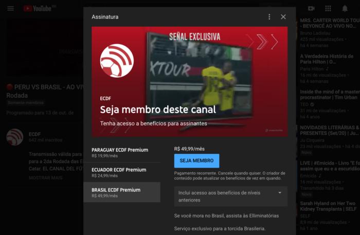 YouTube ECDF - Imagem: YouTube/Reprodução