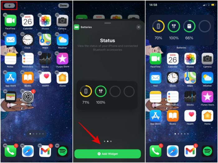 Como adicionar um widget de bateria no iPhone (Imagem: Reprodução)