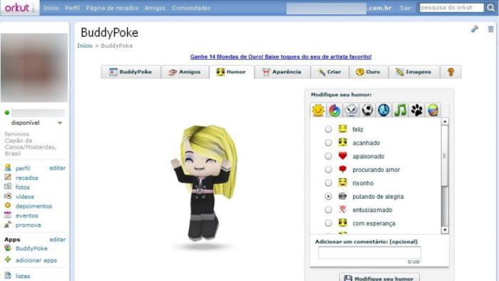 BuddyPoke no Orkut