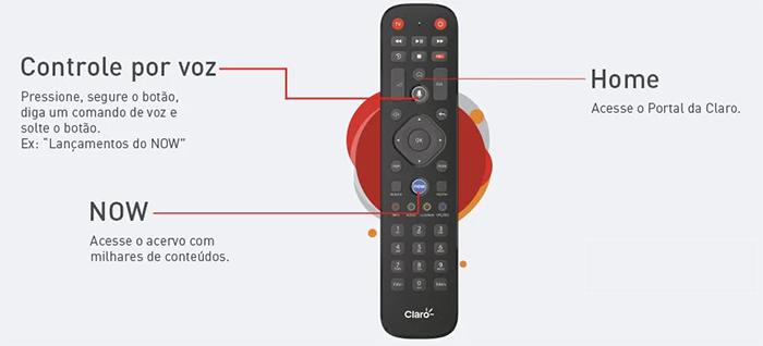 Claro Box TV remote control. Image: Reproduction / Website Claro