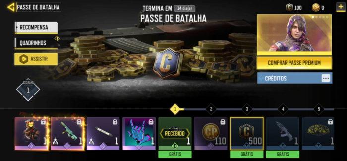 Passe de Batalha de Call of Duty Mobile (Imagem: TiMi Studios/Activision/Garena/Reprodução)