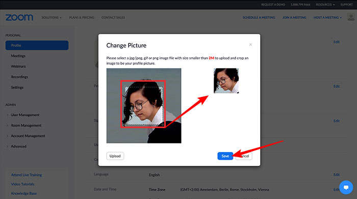 Como colocar foto no Zoom Meeting