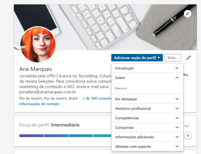 Como fazer um resumo no LinkedIn