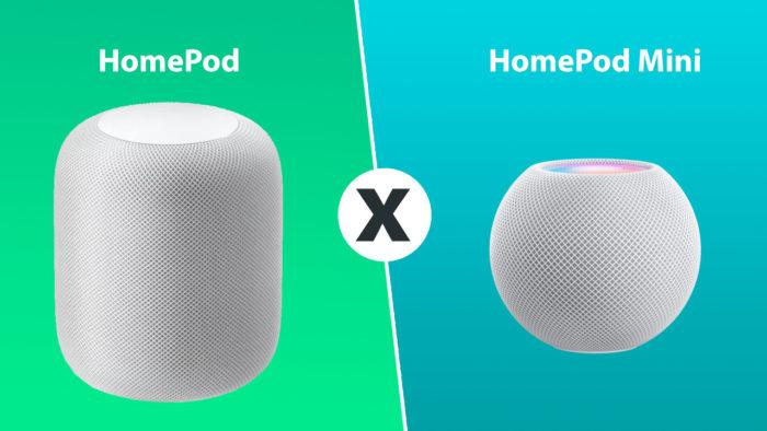 Comparativo Homepod vs Homepod mini - Apple